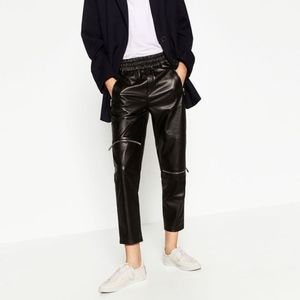 Pants - ZARA Jogging Trousers with Zips